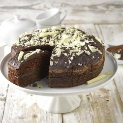 New handmade chocolate cake