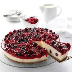 Winterberry cheesecake