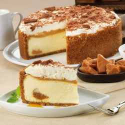 Banoffee cookie crust cheesecake