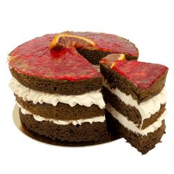 Bloody Orange Layer Cake
