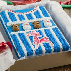Kerst Trui Taart Blauw