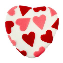 Valentijn hart wit marsepein