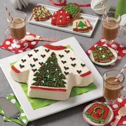 Kerst Trui Taart Wit