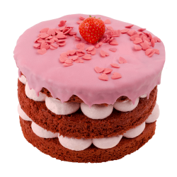 Small Strawberry Love Layer Cake