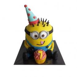 Minion jongen 3D taart