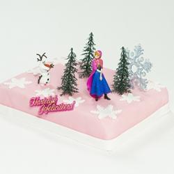 Frozen Anna marsepeintaart