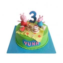 Peppa Pig (1 laag) 3D taart