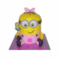 Minion meisje 3D taart