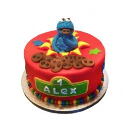 Koekiemonster 3D taart