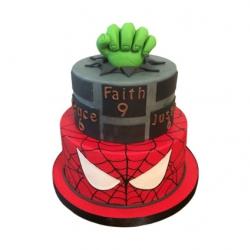 Superhelden 3D taart (2 lagen)