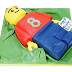 Lego man taart