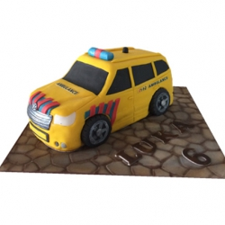 Ambulance 3D taart