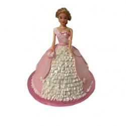 Barbie 3d Taart