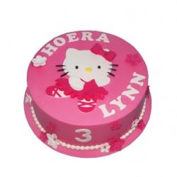 Hello Kitty roze 3D taart