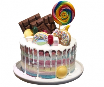 Tony's Rainbow Drip Cake