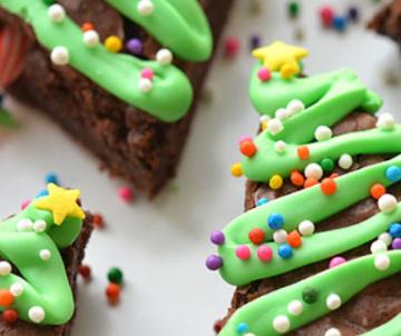 Kerstboom brownies