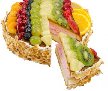 Ronde vruchtentaart
