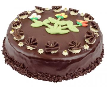 Ronde chocoladetaart