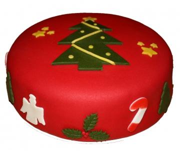 Kerstboomtaart