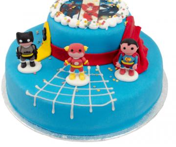 3D Superheroes Taart