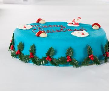 Blauwe Kersttaart