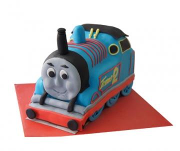 Thomas de trein (locomotief) 3D taart