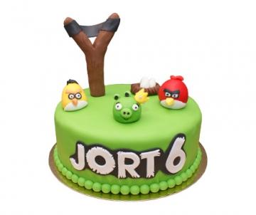 Angry Birds 3D taart (1 laag)