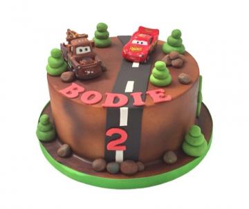 Cars 3D taart