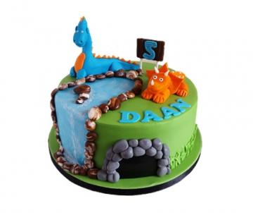 Dino 3D kindertaart