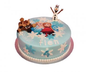 Frozen 3D taart