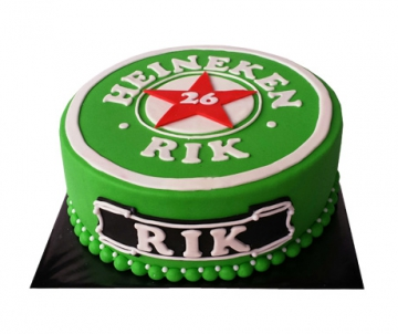 Heineken 3D taart