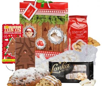 Kersttas met o.a. Kerststol