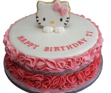 Hello Kitty 3D taart