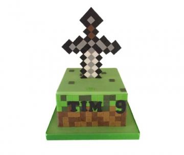 Minecraft 3D taart