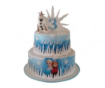 Frozen Olaf 3D taart