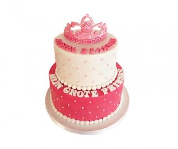 Prinses (2 lagen) 3D taart