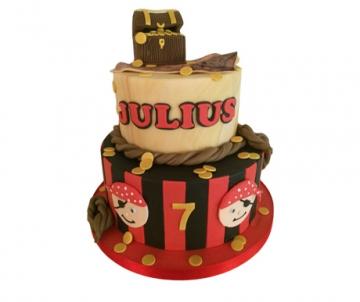 Piraat 3D taart