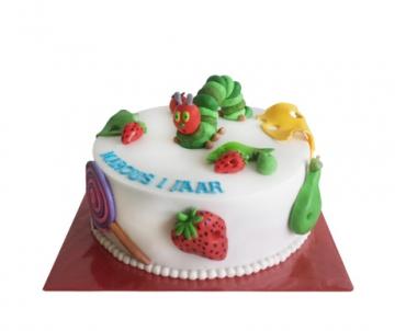 Rupsje Nooitgenoeg 3D taart