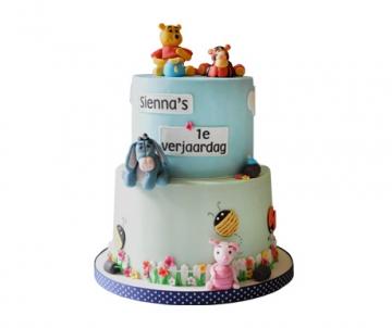 Winnie de poeh (blauw) 3D taart