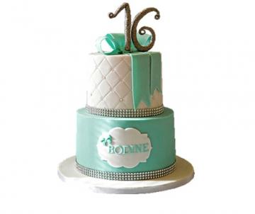 Sweet 16 (wit) 3D taart