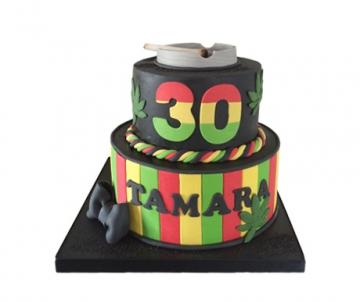 Wiet 3D taart