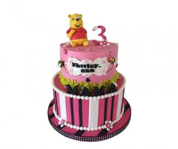 Winnie de poeh (roze) 3D taart