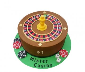 Casino 3D taart