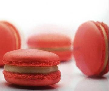 Aardbeien Macarons